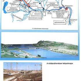 A bősi vízerőmű építkezése