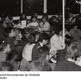 MISZ Örley István Kör programja egy Sétahajón