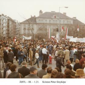 Tüntetés a Bem szobornál II.