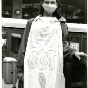 Az 1989. április 21-i demonstráció egy résztvevője I.