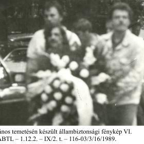 Kádár János temetén készült állambiztonsági fénykép VI.