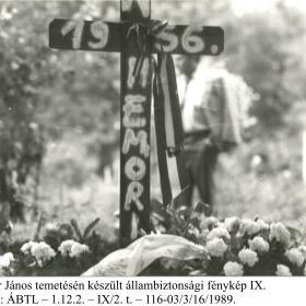 Kádár János temetén készült állambiztonsági fénykép IX.