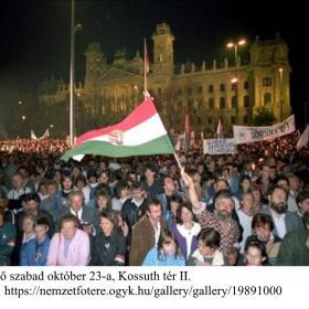 Az első szabad október 23-a, Kossuth tér II.